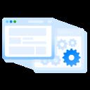 back end, browser window, code, staging, web hosting, website icon