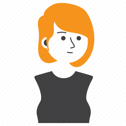 avatar, casual, girl, people, short hair, woman, work icon