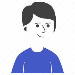 avatar, boy, expression, happy, man, people, smile icon