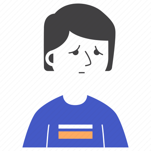 avatar, boy, expression, man, people, sad, t-shirt icon