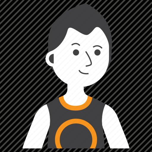 athletic, avatar, boy, emoji, expression, man, people icon