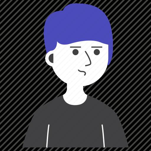 avatar, boy, emoji, expression, man, people, worry icon