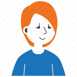 avatar, boy, emoji, expression, long hair, man, people icon