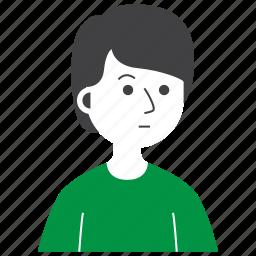 avatar, boy, expression, man, people, sad, worry icon