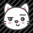 avatar, cat, cute, face, kitten, smirk icon