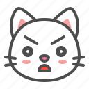 angry, avatar, cat, cute, face, kitten icon