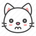 avatar, cat, cute, face, kitten, sad