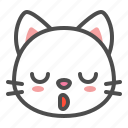 avatar, cat, cute, face, kitten, sleepy icon