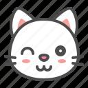 avatar, cat, cute, face, kitten, wink
