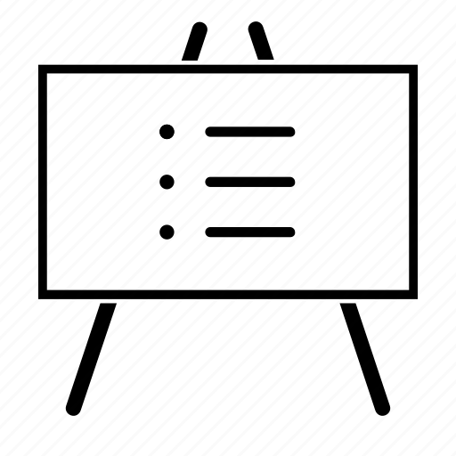 business, list, notes, whiteboard icon