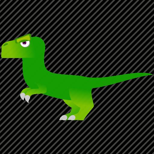 dinosaur, green, prehistoric, wild icon
