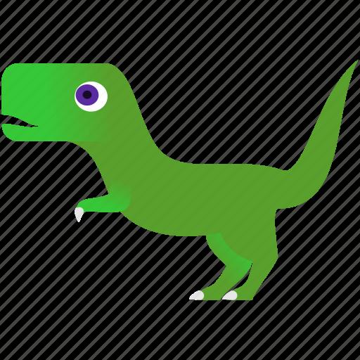 baby, dinosaur, green, prehistoric, wild icon