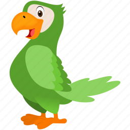 bird, green, guacamaya, wild, zoo icon