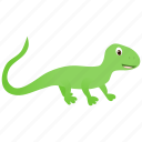 domestic, green, lizard, wild icon