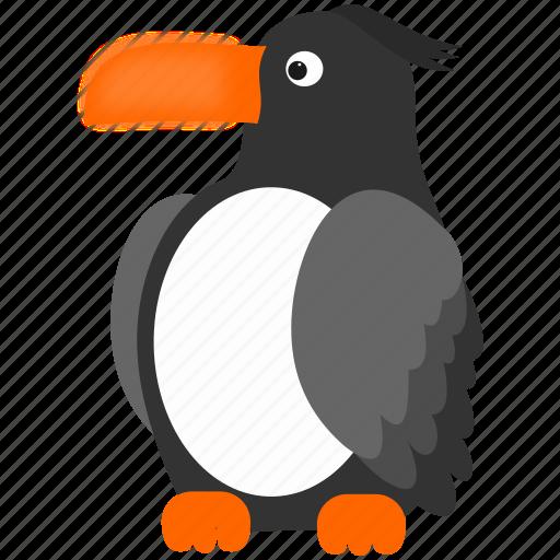 bird, dark, gray, toucan icon