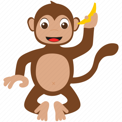brown, monkey, wild, zoo icon