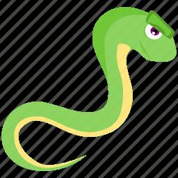 domestic, green, snake, wild icon