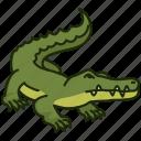 animal, crocodile, reptile, wild, wild animal, zoo icon