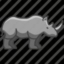 wild animal, wild, rhino, animal, zoo icon