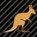 animal, kangaroo, wild, wild animal, zoo icon
