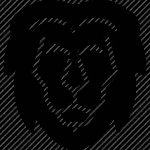 animal, face, lion, zoo icon