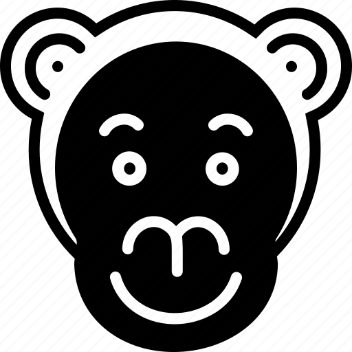 animal, face, monkey, zoo icon