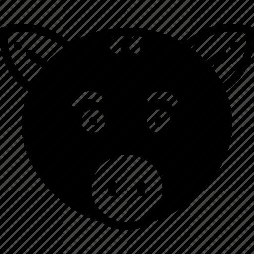 animal, face, pig, pork icon