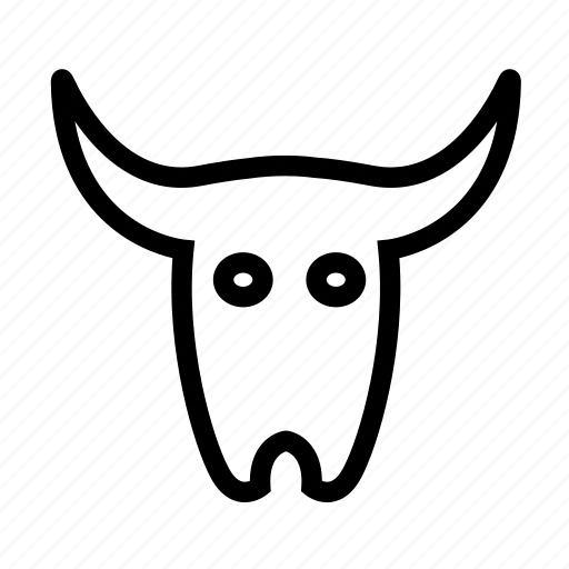 cattle, skull, west, wild icon