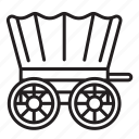 wagon, old, western, cart, caravan, carriage, transport icon