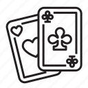 ace of clubs, bet, card game, cards, casino, clubs, gambling icon