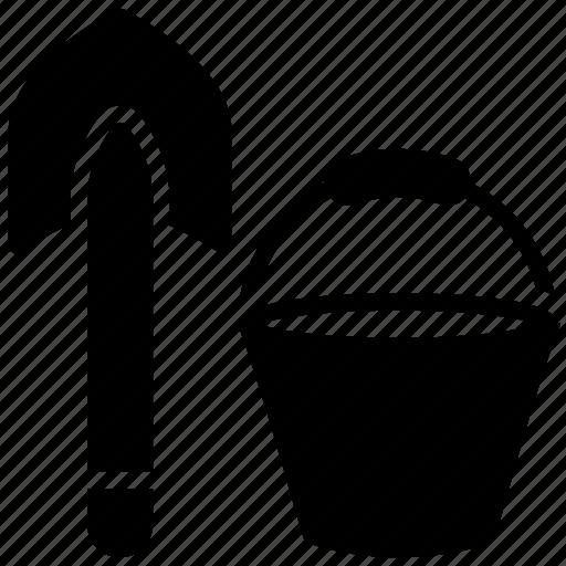 bucket, pail, paint bucket, spade, water bucket icon