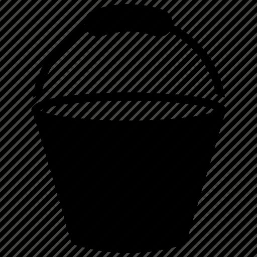 bucket, pail, paint bucket, utensil, water bucket icon