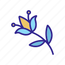 bouquet, branch, flower, natural, outline, pest, wildflower icon