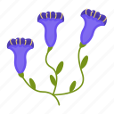 flowers, garden, gardening, gentian, leaf, plant, wildflowers icon