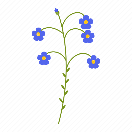 flax, flowers, garden, gardening, leaf, plant, wildflowers icon