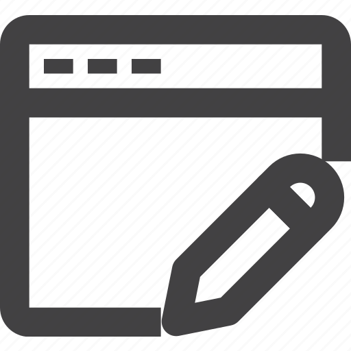 browser, edit, gui, interface, window icon