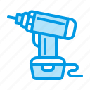 drill, repair, tool icon