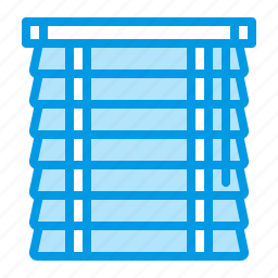 blinds, curtains, home, window icon