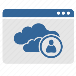 app, application, cloud, connect, login, user, window icon