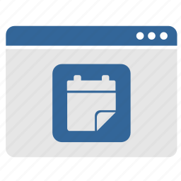 app, application, calendar, date, events, program, window icon
