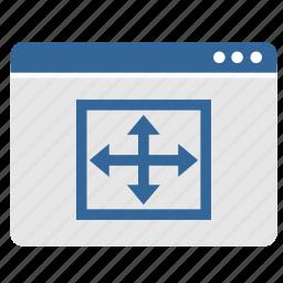 app, application, full, screen, size, window icon