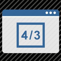 app, application, screen, size, standart, window icon