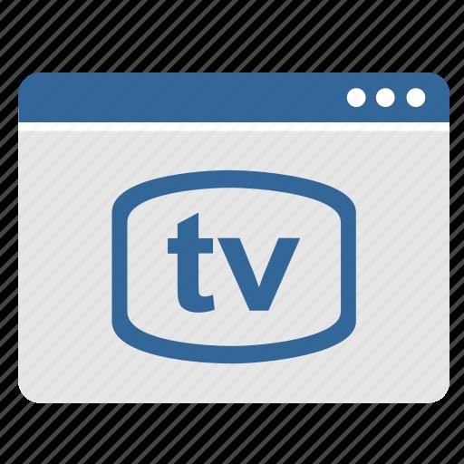 app, application, program, tv, vision, window icon