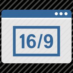 app, application, program, screen, wide, window icon