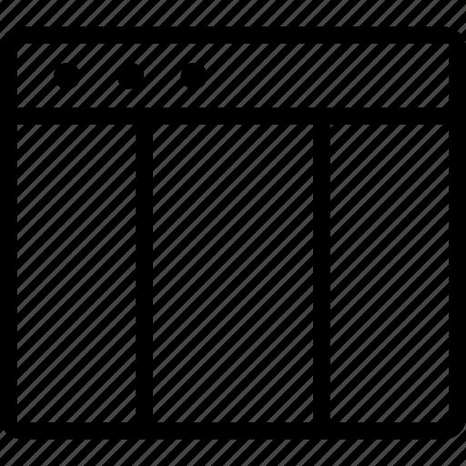 grid, modular grid, page, site, window icon