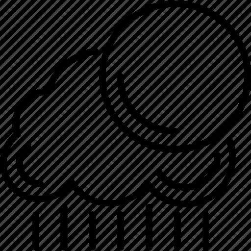 rain, sun, weather, wine icon