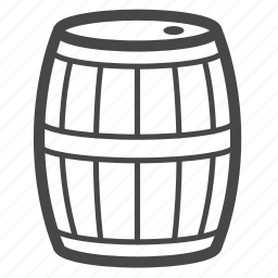 barrel, cask, tank, wine icon