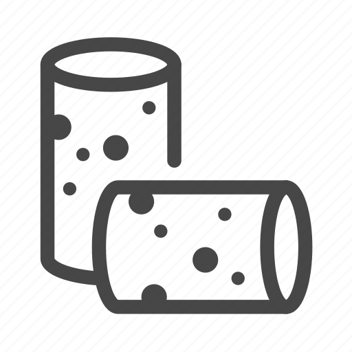 cork, cylinder, plug, wine icon