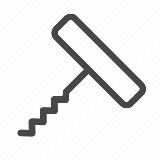corkscrew, opener, screw, tool, wine icon