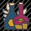 whiskey, spirits, alcohol, drink, glass, shot, bottle